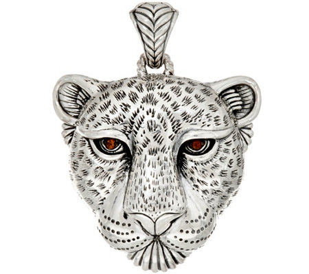 JAI Sterling Silver Leopard Enhancer, 29.4g