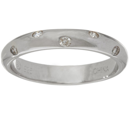 Scattered Diamond Band Ring, Sterling 1/10 cttw by Affinity