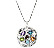 Or Paz Sterling Silver 5.4 Ct. Multi-Gemstone Pendant w/Chain - J349544