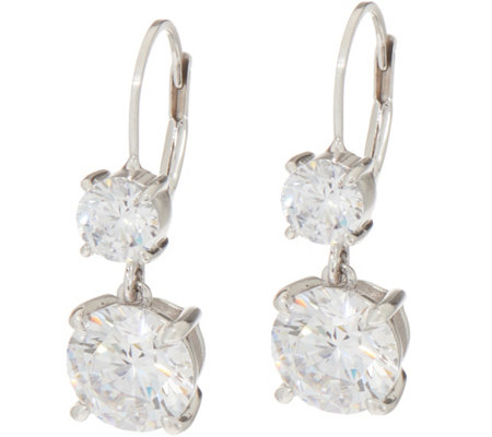 Diamonique 5.00 cttw Lever Back Earrings, Sterling
