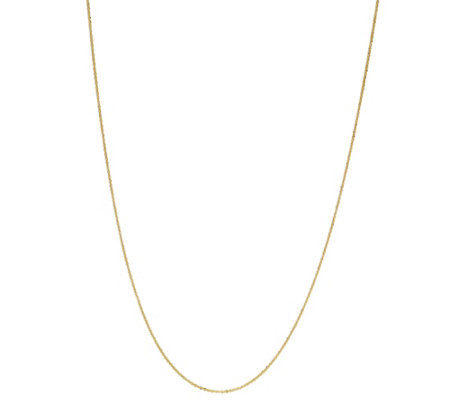 """As Is"" Italian Gold 20"" Sparkle Chain 14K Gold, 1.5g"
