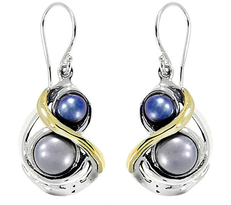 Hagit Sterling Silver & 14K Gold CulturedPearl Earrings