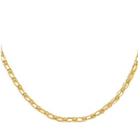14K Gold Birdcage Link Necklace, 5.2g