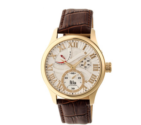 Reign Bhutan Automatic Watch - Goldtone/Silver