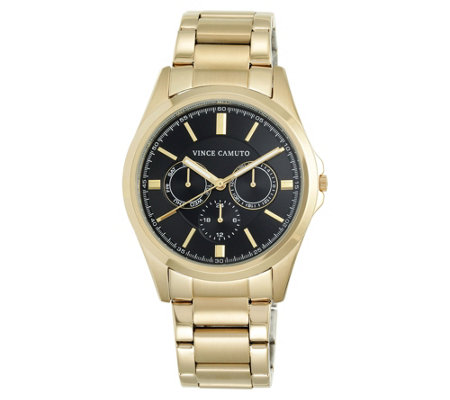 Vince Camuto Men's Multi-Function Goldtone Bracelet Watch