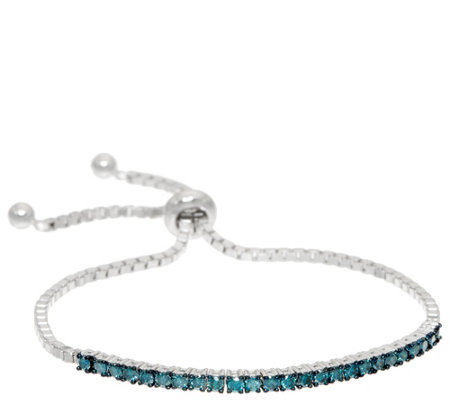 Affinity 1.00 cttw Colored Diamond Bracelet, Sterling Silver