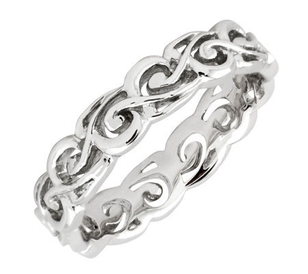 Simply Stacks Sterling Polished Open Scroll Ring