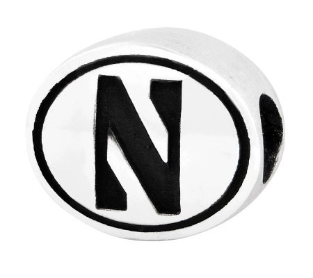 Sterling Silver Northwestern University Bead