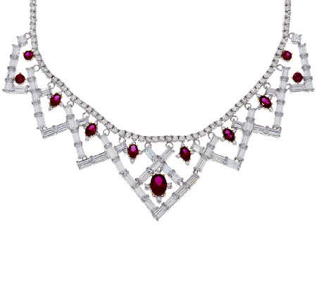 The Elizabeth Taylor 6.40cttw Legacy of Love Simulated Ruby Necklace