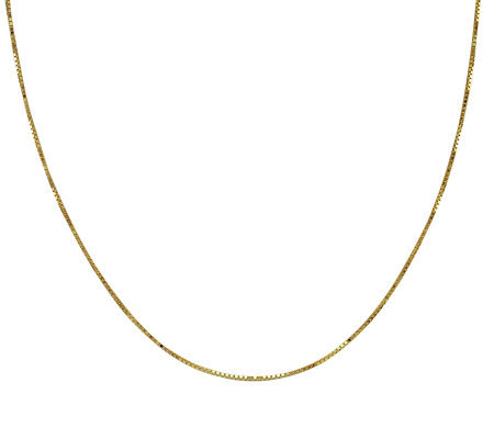 "EternaGold 18"" 058 Solid Box Chain Necklace, 14 K Gold, 2.6g"
