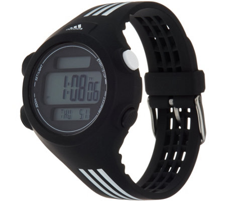 Adidas Unisex Black & White Resin Sport Watch - Questra