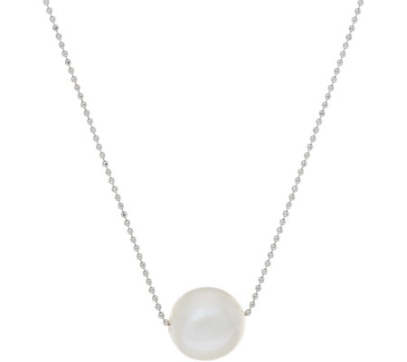 Honora Cultured Pearl White Ming Sterling Silver Necklace