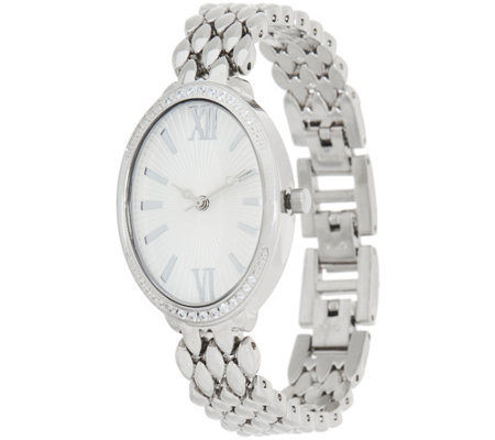 Diamonique Pave' Oval Watch