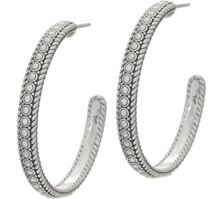 Jai Sterling Silver Kalahari 1 1 2 Hoop Earrings