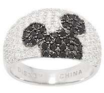 Mickey's 90th Birthday Diamonique Hidden Mickey Ring, Sterling - J358045