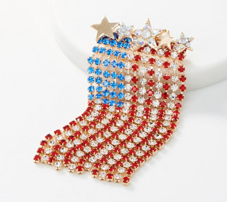 Kirks Folly Vertical Dancing American Flag Pin