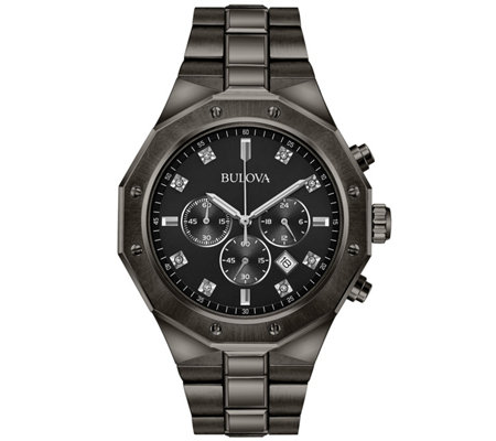 Bulova Men's Diamond Chronograph Gray Watch