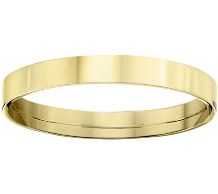 Men's 18K Yellow Gold 3mm Flat Comfort Fit Wedding Band