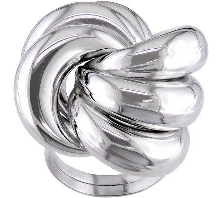 Sterling Love Knot Ring by Silver Style