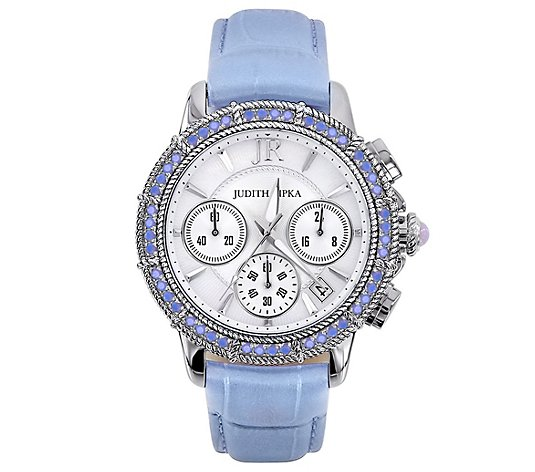 Judith Ripka Stainless Steel Diamonique Chronograph Watch