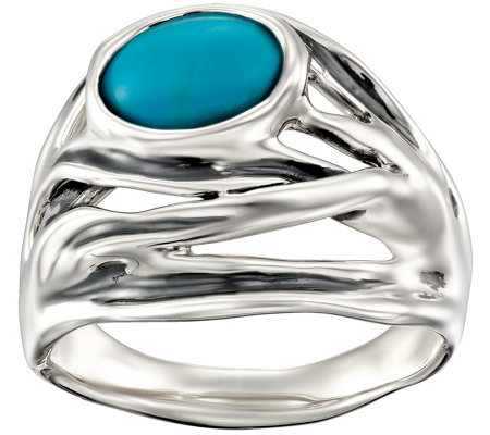 Hagit Sterling Turquoise Ring