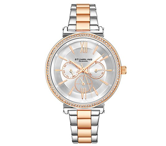 Stuhrling Women's Aria Two-Tone Multi-FunctionWatch