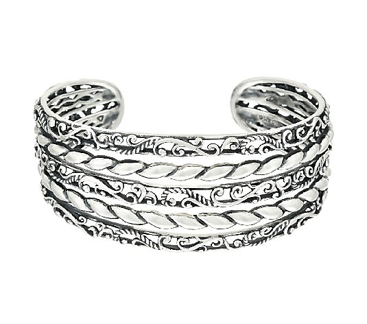 Carolyn Pollack Sterling Signature Multi-Row Cuff, 35.0g