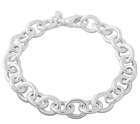 Ultrafine Silver 8 Rolo Link Bracelet 12 0g