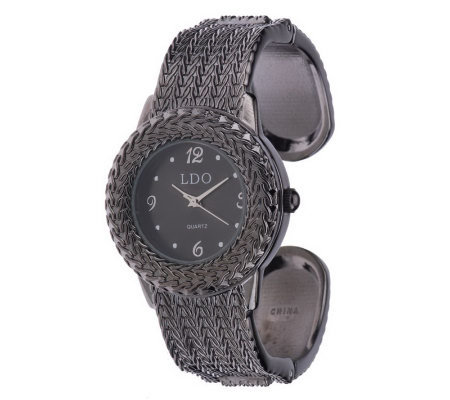 Linea by Louis Dell'Olio Textured Cuff Watch