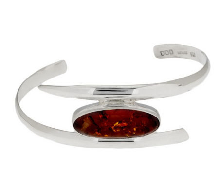 """As Is"" Dominique Dinouart Sterling Avg. Gemstone Cuff"