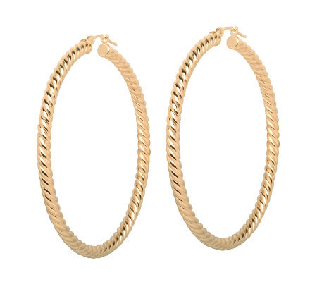Eternagold 2 Twist Hoop Earrings 14k Gold