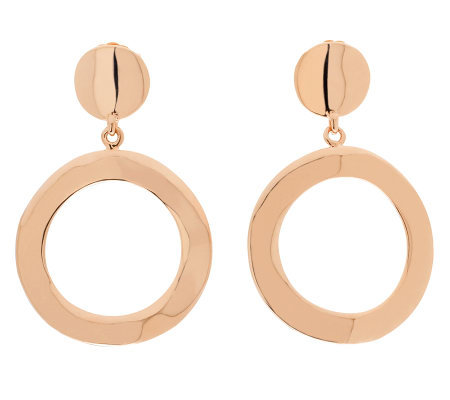Bronzo Italia Polished Open Ring Dangle Earrings