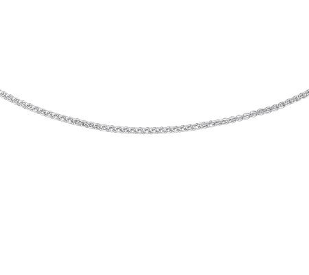 "Sterling 18"" Polished Solid Round Spiga Chain"