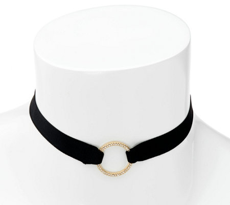 BaubleBar Circle Design Ribbon Choker Necklace