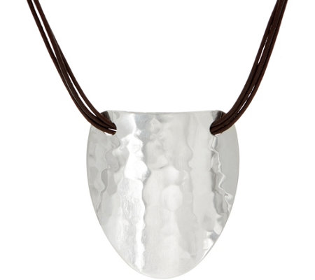 RLM Statement Multi-Strand Leather Necklace