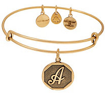 Alex and Ani Goldtone Initial Charm Bangle - J351846