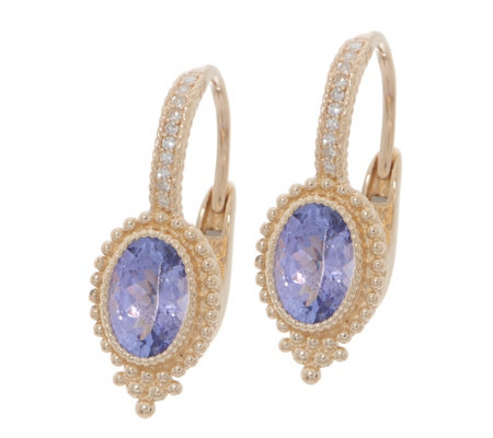 Judith Ripka 14K Gold Gemstone & Diamond Earrings