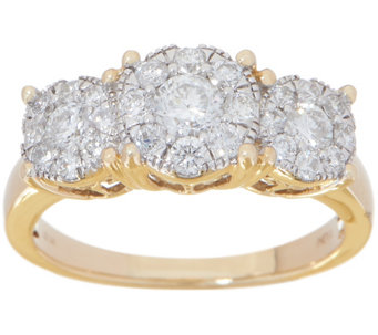 Diamond Three Stone Cer Ring 1 00 Cttw 14k By Affinity J355446
