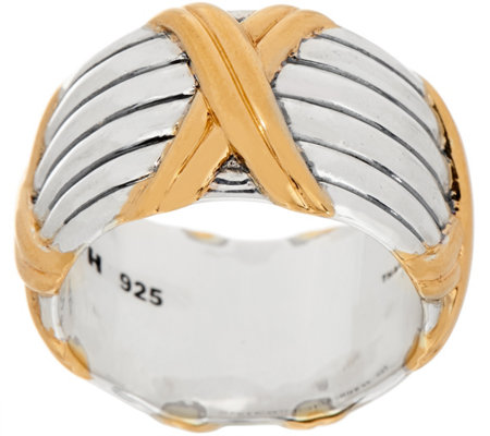 Peter Thomas Roth Sterling Silver & 18K Clad Wide Band Ring