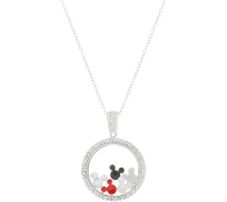 Mickey S 90th Birthday Floating Shaker Pendant Sterling Silver