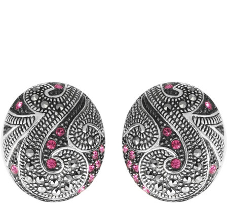 Suspicion Sterling Crystal & Marcasite Earrings