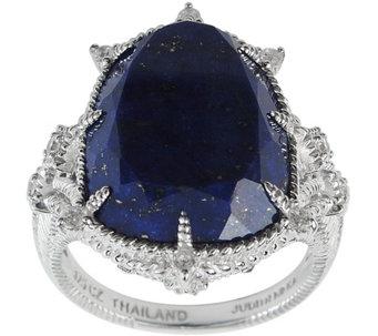 Judith Ripka Sterling Lapis Diamonique Ring J380046