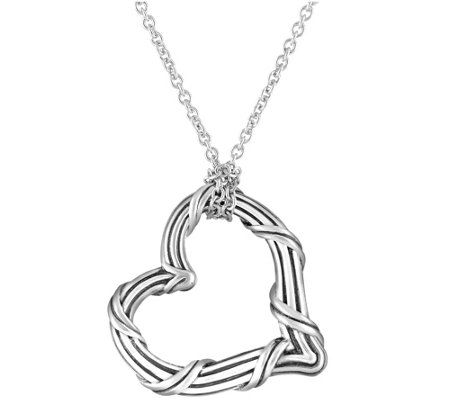 Peter Thomas Roth Sterling Signature Heart Pendant Necklace