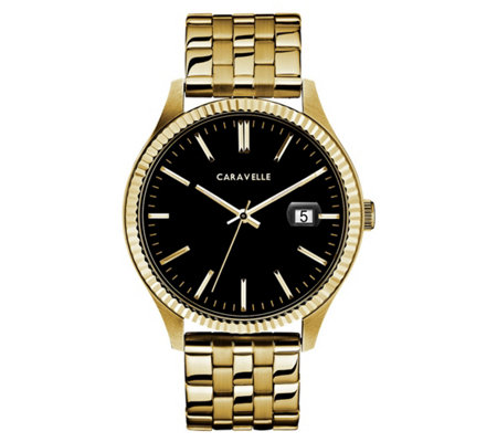 Caravelle Men's Stainless Steel Bracelet Watch
