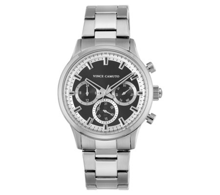 Vince Camuto Men's Multi-Function Stainless Bracelet Watch