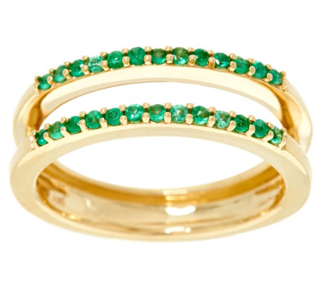 """As Is"" Emerald Ring Guard, 14K Gold .15 cttw, by Affinity"
