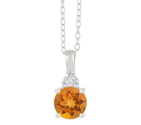Premier 1 50cttw Citrine Diamond Pendant 14k