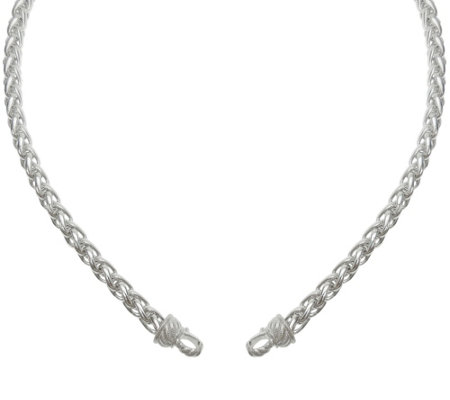 "Judith Ripka Sterling Silver Wheat Chain 17"" Necklace"