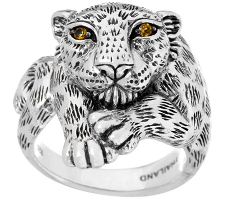 JAI Sterling Silver Leopard Ring
