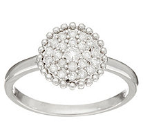 Pave' White Diamond Ring, Sterling Silver 1/4 cttw, by Affinity - J346347